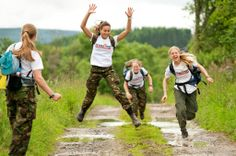 Great photo of participants in the Alliance Trust Cateran Yomp in June 2012. Clearly the girls have too much energy or they are truly inspired by the excellent t-shirts they are wearing! #legendsbrandanddeliver