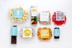 Cutest new mommy gift!! Snacks w cute labels