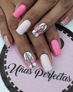 Manucure Pour plus -> anais_Fbg Gorgeous Nails, Love Nails, Acrylics, Nail Designs, Nail Art, French, Beauty, Nail Arts, Tape Nails