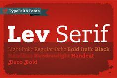Lev Serif by TypeFaith Fonts :: A slight more modern slab serif