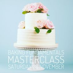 Our Tiered Wedding Cake Course is now sold out!  But fear not you can still join us for our Baking Fundamentals class on Sat 26th Nov and become a baking whiz  Learn everything you need to know to bake a perfect sponge cake and make silky smooth buttercream for filling and covering like an expert. (Link in bio to book your place)