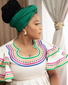 Pedi Traditional Attire, Sepedi Traditional Dresses, African Women, African Fashion, African Dress, African Patterns, African Prints, Crochet Necklace, How To Wear