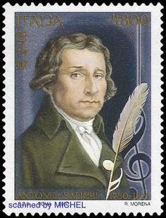 Briefmarke Italien Antonio Salieri