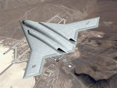 Future USAF stealth bomber concept. (Unmanned Aerial Vehicles, UAV, Drone)