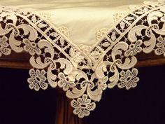 Napkin Handkerchief Silk with lace RM-03 by ClassyInteriorsDeco