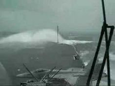 USS Kitty Hawk (CV-63) & the big wave! (YouTube)