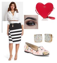 """Work on Valentine's"" by dayana-perez on Polyvore featuring Forever 21, BB Dakota, Kate Spade, women's clothing, women, female, woman, misses, juniors and plus size clothing"