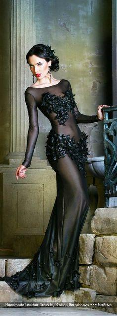 Handmade Leather Dress by Kristina Berezhneva