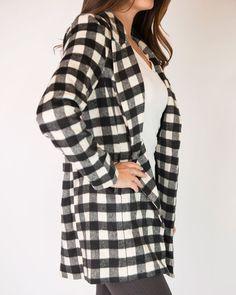 Marlow Oversized Plaid Blazer, , Clothing -- Cents Of Style - 4
