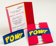 Super Hero Birthday Invitation. $2.25, via Etsy.