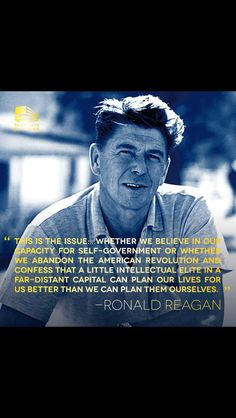 Ronald Reagan... Can we get another one just like him?!