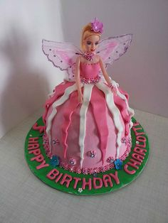 Barbie Fairy Doll Cake- Pink with wings