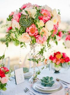55 Vivid Summer Wedding Centerpieces That You'll Love   Weddingomania