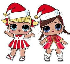 Natale lol Cheer Captain, Chibi Kawaii, Doll Drawing, Christmas Decoupage, Christmas Images, Merry Christmas, Doll Party, Bee Art, Lol Dolls