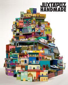 Cartonlandia by Anna Serano  Looks like Mexico City (and many other latin american shanty towns alike)... love it!