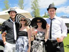 Dressed up in black and white at the Franschhoek Cap Classique & Champagne Festival