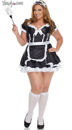 Plus size dirty french maid