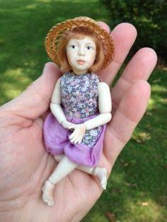 Artist Jane Davies Porcelain Miniature Dollhouse Doll - Simply Wonderful