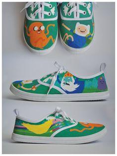 deviantART: More Like Adventure Time Shoes I by ~Misfit-Mistress