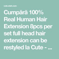 Buy Real Human Hair Extension per set full head hair extension can be restyled at Cute - Beauty Shopping Real Human Hair Extensions, Cute Beauty, Beauty Shop, Canning, Home Canning, Conservation