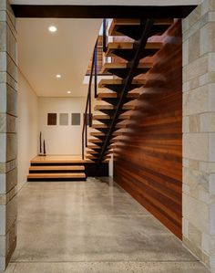 Fieldstone House - contemporary - Staircase - Milwaukee - Bruns Architecture