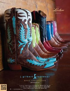 Lucchese turquoise and brown