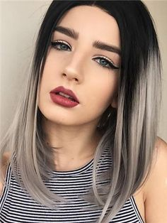 Gray Wigs African Americans Best Amla Oil For Grey Hair White Hair Short White Hair Short Grey Hair Texture, Textured Hair, Bob Hairstyles For Fine Hair, Layered Bob Hairstyles, Black Hairstyles, Trendy Hairstyles, Ombre Bob Hair, Short White Hair, Blonde Bob Haircut