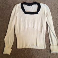 Nanette Lepore size large sweater 18 bust pit to pit 22 long you are purchasing a size large Nanette Lepore black and white thin summer sweater Nanette Lepore Sweaters Crew & Scoop Necks