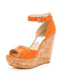 """I love this Ariana Wedge from Michael Kors.     It has a 5"""" heel!  That's a little intimidating!"""