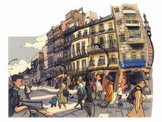 Urban Sketchers: Sketches from Vigo, Spain