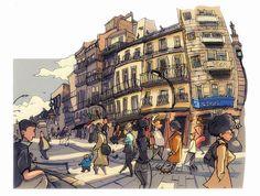 Urban Sketchers: Sketches from Vigo, Spain