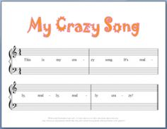 9 FREE Printable Beginning Piano Composition Worksheets