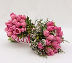 The Watering Can - Bridal Bouquets   Hand-Tied Tulip Bouquets (wedding)