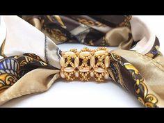Брошь-зажим для платка или шарфа. Мастер класс от Натали Амаполы. Бисероплетение. - YouTube