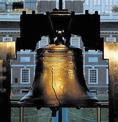 "Jul 8, 1776:  Philadelphia, the Liberty Bell rings out from the tower of the Pennsylvania State House summoning citizens to the first public reading of the Declaration of Independence. On July 4, document was adopted by delegates to the Continental Congress meeting in the State House. However, the Liberty Bell, which states ""Proclaim Liberty Throughout All the Land unto All the Inhabitants Thereof,"" was not rung until the Declaration of Independence returned from the printer on July 8."