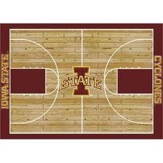 "College Court Iowa State Cyclones Rug Size: 10' 9""x13' 2"" $718.80"