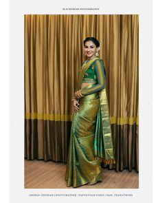Kanjeevaram Saree with full sleeves Blouse Full Sleeves Blouse Designs, Silk Saree Blouse Designs, Net Saree Blouse, Dress Designs, Indian Fashion Dresses, Fashion Blouses, Indian Outfits, Women's Fashion, Saree Draping Styles