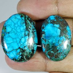 56.90Cts. TREATED TIBET TURQUOISE ROUGH LOT CABOCHON QUALITY LOOSE GEMSTONES #Handmade
