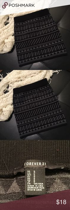 "NWOT Tribal Sweater Skirt Super cute and soft sweater material. My daughter takes tags off then doesn't wear it 😔   Waist 12"" across Hips 14.5"" across Length 15.5"" Forever 21 Skirts Mini"