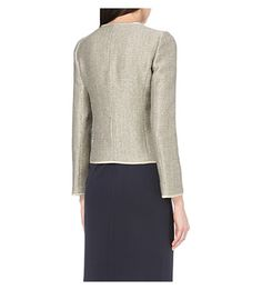 ARMANI COLLEZIONI Metallic linen-blend jacket