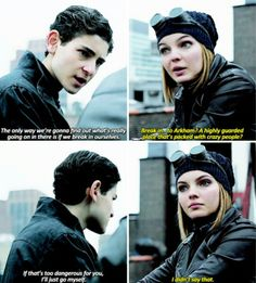 """""""If that's too dangerous for you, I'll just go myself"""" - Bruce and Selina #Gotham"""