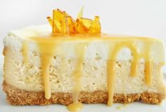Dulce de leche cheesecake via All That's Left Are The Crumbs