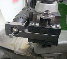 Homemade tool post attachment for a high speed rotary tool Metal Lathe Tools, Metal Lathe Projects, Metal Working Tools, Cnc Lathe, Homemade Lathe, Homemade Tools, Lathe Accessories, Machinist Tools, Metal Workshop