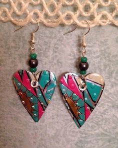 A personal favorite from my Etsy shop https://www.etsy.com/listing/476925458/up-cycled-arizona-iced-tea-can-earrings