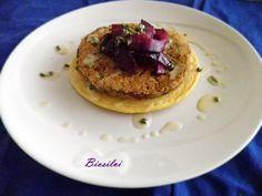 Pancake di ceci con burger di lenticchie in crema di avena | Biosilvi
