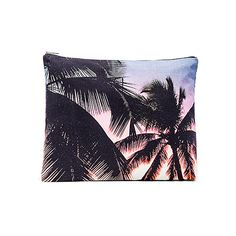 Samudra Makaha Sunset Jumbo Pouch Bags (290 PEN) ❤ liked on Polyvore featuring bags, handbags, clutches, purse pouch, blue clutches, man bag, hand bags and blue hand bag