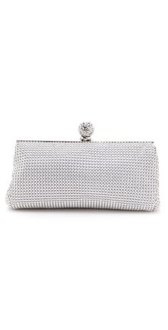 b47923d5c31 Whiting  amp  Davis Crystal Classics Clutch Wedding Clutch, Silver Shoes,  Monograms, Wedding