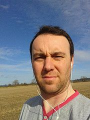 Fitness Day 12 - Nice walk with Kipper and it was really warm, however the sun's in my eyes here and that's why I look like a tube.  (and yes I'm a mink - that's the same tshirt as last night)