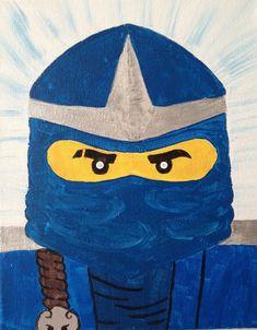 Ninjago Blue Ninja | Ninjago Jay Blue Ninja 8x10 on canvas frame by GreenHornArt