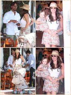 Formula 1 heiress Tamara Ecclestone and her property developer husband Jay Rutland took their 17-month-old daughter Sophia out to lunch at Fred Segal in West Hollywood, Calif. on Monday (August 17). Tamara's sister Petra and her family also joined them.  Mommy and daughter wore matching outfits! Sophia had on a paisley dress while Tamara sported the same print in a skirt.